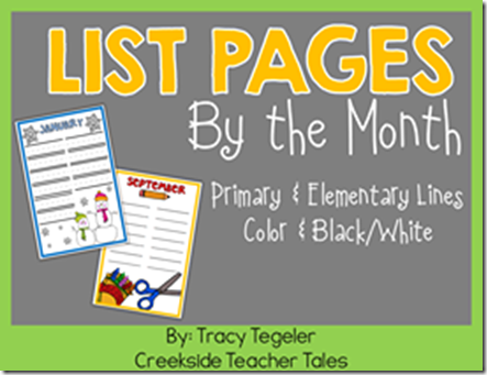 list pages