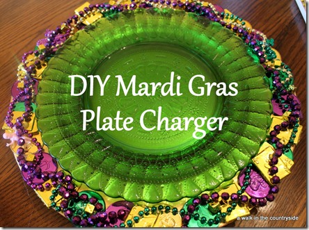 diy mardi gras plate charger