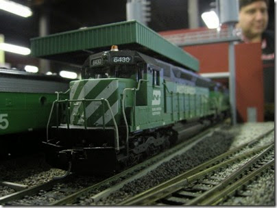 IMG_5441 Burlington Northern SD45 #6430 'Hustle Muscle' on the LK&R HO-Scale Layout at the WGH Show in Portland, OR on February 17, 2007