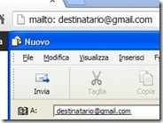 Come comporre una email dalla barra indirizzi del browser internet