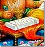 Ganesha writing scripture