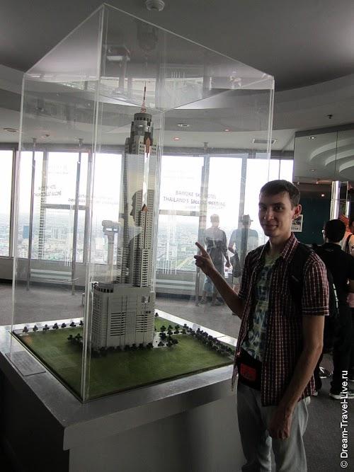В центре обсерватории стоит макет здания в миниатюр
