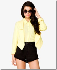 Open-Front Pointed Hem Blazer