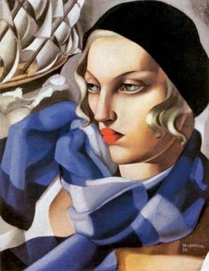 Tamara-de-Lempicka-The-Blue-Scarf-1930-Oil-Painting