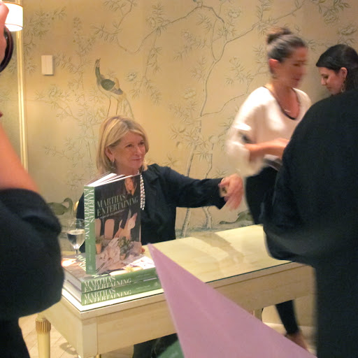 Martha sign copies of her 6 pound entertaining book that just hit shelves.