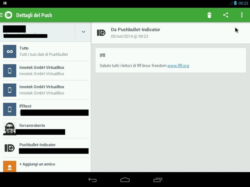 Pushbullet Indicator in Android