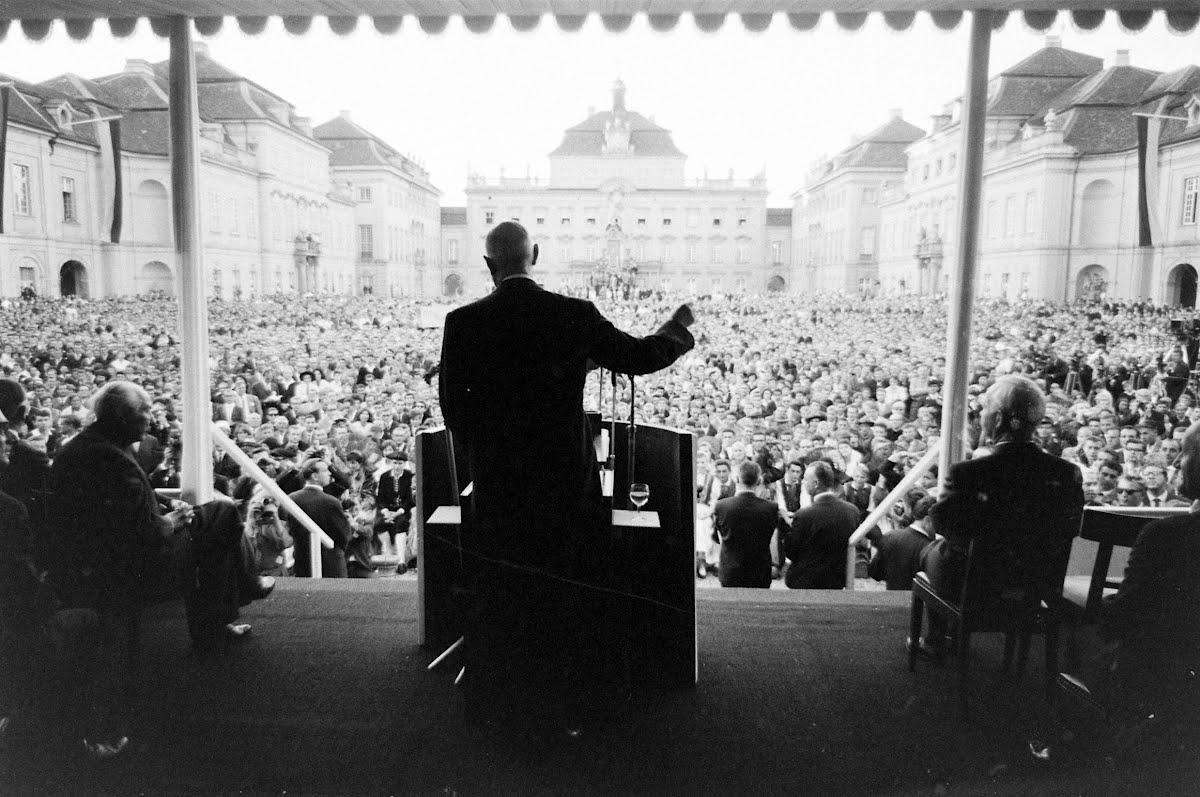 De Gaulles Rede an die deutsche Jugend in Ludwigsburg, 1962.
