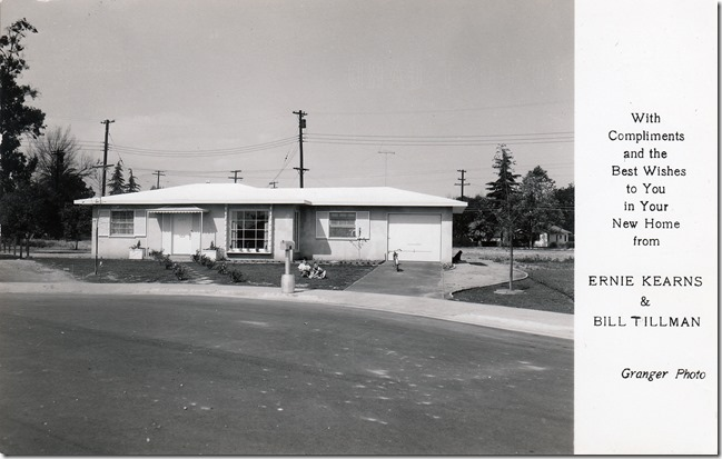 Debs Webster Family Home in Pomona California 1953
