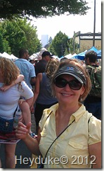 Sharon at the Mississippi Avenue Street Fair