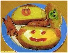 Веселый детский завтрак. www.samapovar.ru