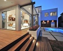Fachadas-casas-minimalistas-casas-modernas-con piscina-construccion-casas