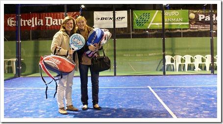 El apartado femenino, se saldo con la victoria de la madre de Juani Mieres, Liliana, en dupla con Gracia Amescua