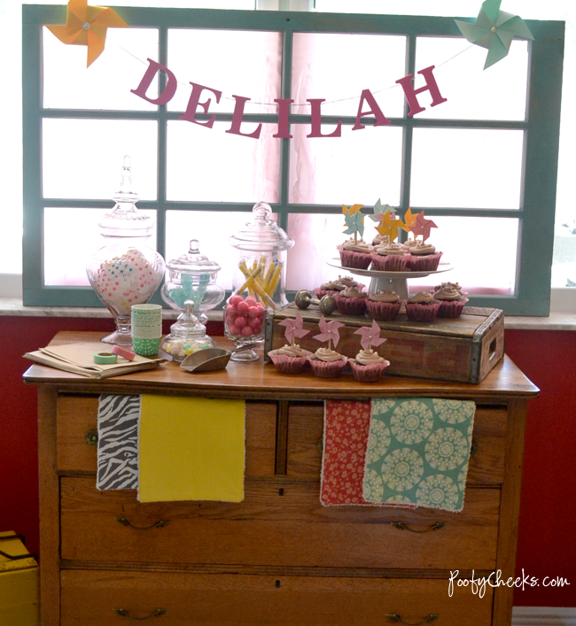 Pinwheels and Pearls Babyshower - Dessert Table