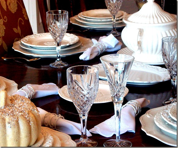 Alex photos &amp; Bling White Pumpkin Tablescape 1604