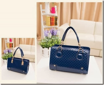 U1041 BLUE (199.000) - PU Leather, 30 x 30 x 12