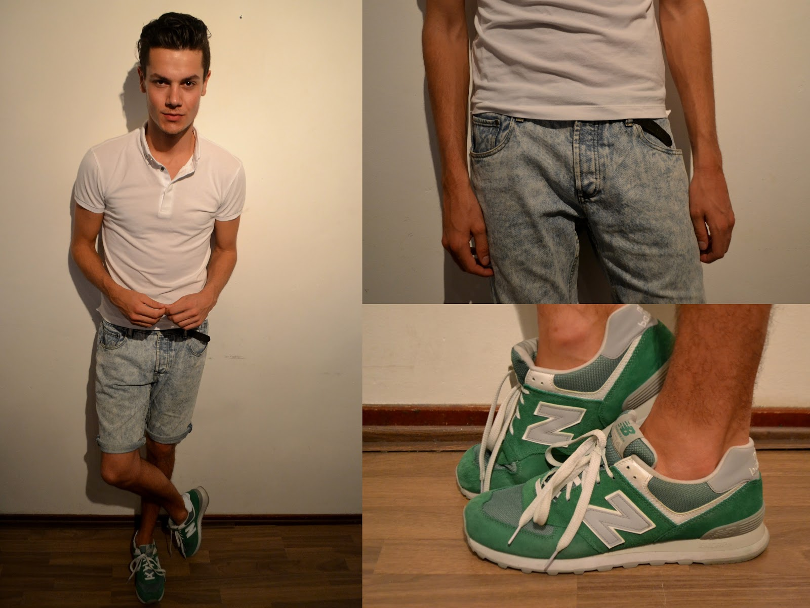 new balance 574 wearing of the green