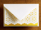 Vera Wang's stationery is always beautiful. This preppy style pops thanks to its bright yellow color (www.neimanmarcus.com).
