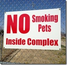 no smoking pets