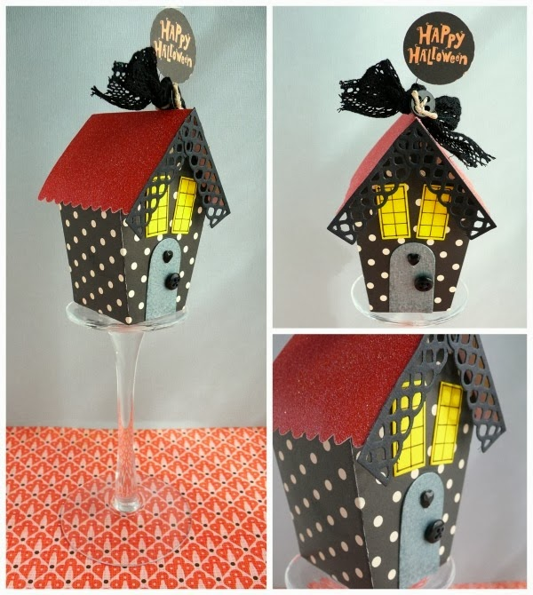 cafe creativo - sizzix big shot - birdhouse - holidays - halloween