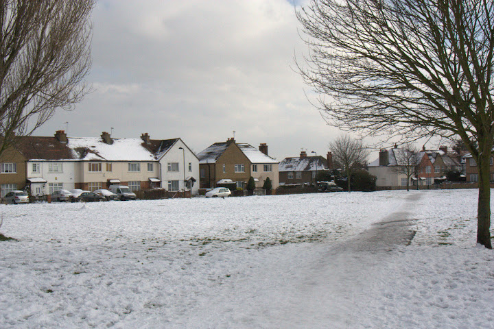 Snow in South Ealing on Tuesday afternoon