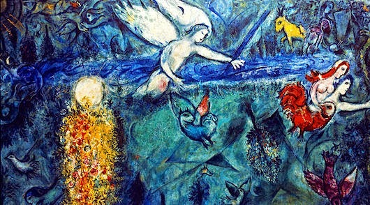 Chagall adam and eve