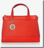 Armani Jeans Red Cross Body Tote