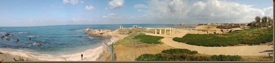 2.25 Caesarea Sea Wall and Palace Ruins Panorama