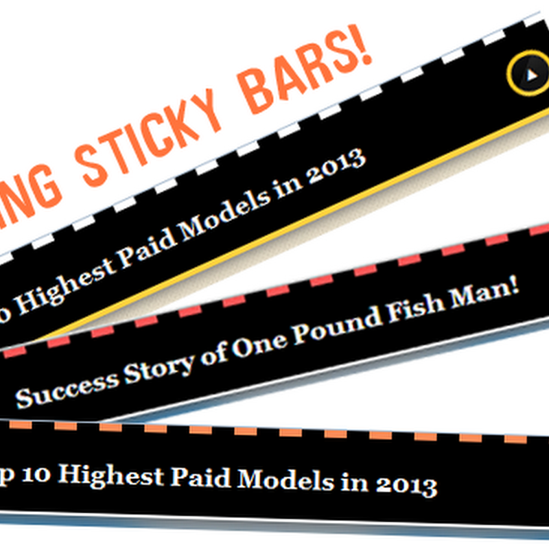 Show Random Headlines Inside Sticky Floating Bar