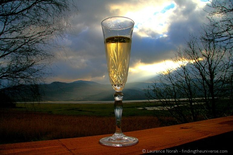 Surreal champagne glass 2