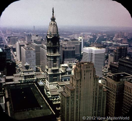 View-Master Philadelphia (A631), Scene 2: City Hall and Penn Center