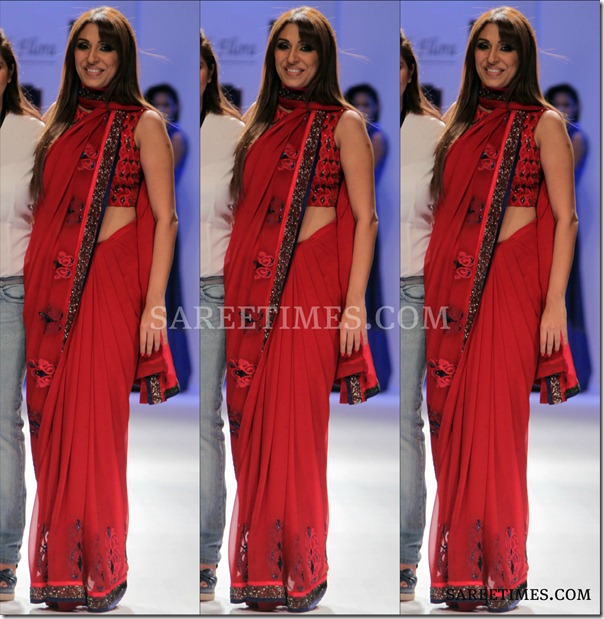 Pooja_Mishra_Red_Saree