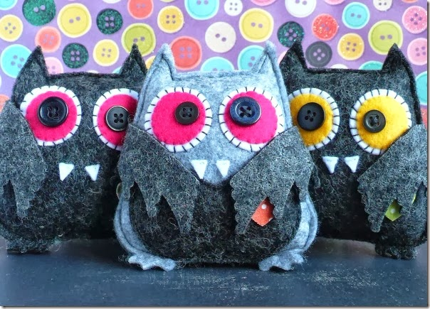cafe creativo - Anna Drai - sizzix big shot - owl bat halloween felt (1)