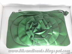 hyphen luxe green rose purse, by bitsandtreats
