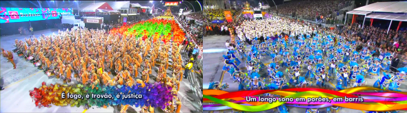 Caracteres da letra do samba - Foto: Reprodução/TV Globo