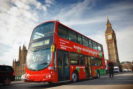 Obiective turistice Anglia - double decker Londra