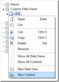 Creating a new control in container 'c101'.