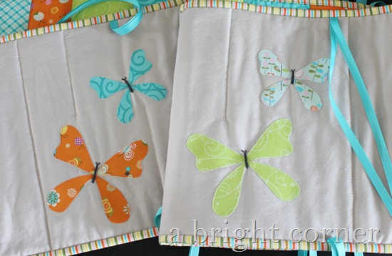 butterfly applique crib bumpers 2