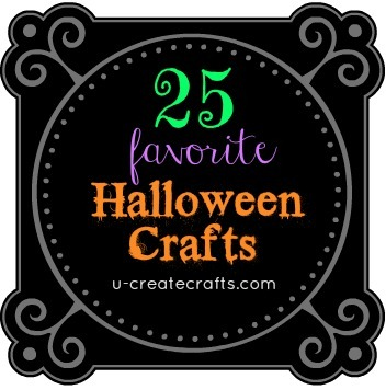 25 Favorite Halloween Crafts at u-createcrafts.com