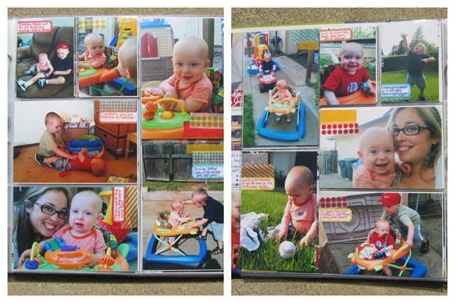 Project Life- Week 18 insert babysitting
