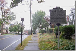 Fort Loudoun Marker Q-4k on Loudoun Street looking toward Winchester.
