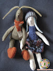 мягкие игрушки заяц+зайчиха