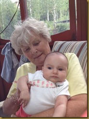 Grandma Miller with Claire