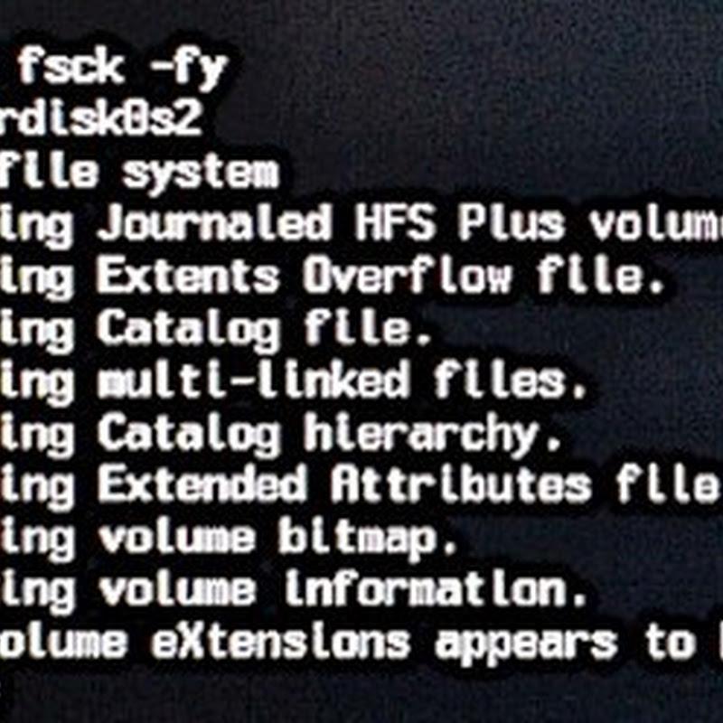 Cómo usar fsck para corregir un sistema corrupto.