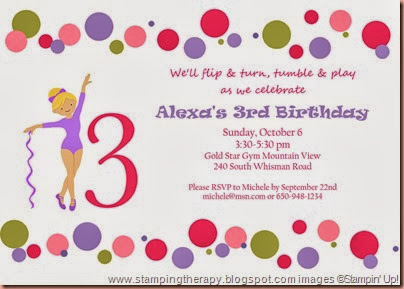 Alexa 3rd birthday invite with polka dots_for blog-001