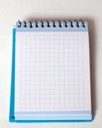 grid paper notepad