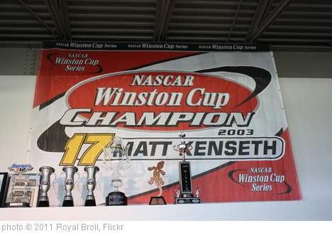 '7.2.11 - Matt Kenseth Museum - Championship banner' photo (c) 2011, Royal Broil - license: http://creativecommons.org/licenses/by-sa/2.0/