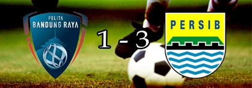 Persib Berhasil Menangi Derby Bandung.
