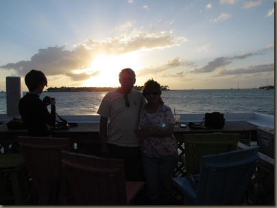 karen and al at sunset pier, key west