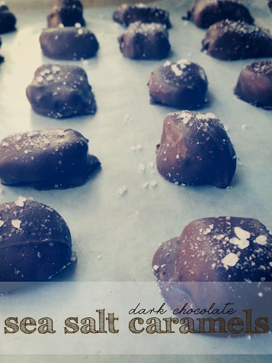 Homemade Dark Chocolate Sea Salt Caramels | Shan-Made