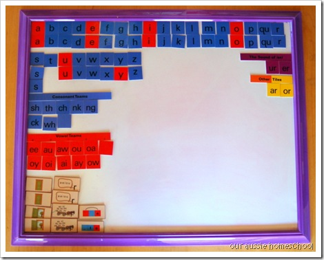 All About Spelling Board ~ Our Aussie Homeschool